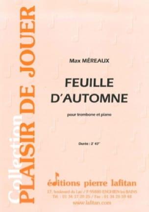 Feuille d'automne Max Méreaux Partition Trombone - laflutedepan
