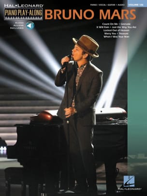 Bruno Mars - Piano play-along volume 126 - Bruno Mars - Partition - di-arezzo.fr