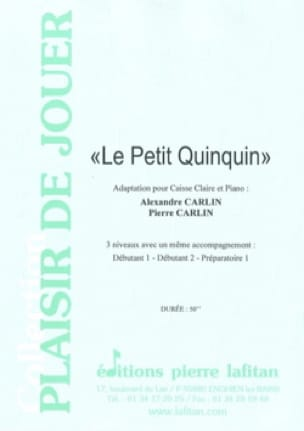 Carlin Alexandre / Carlin Pierre - The little quinquin - Sheet Music - di-arezzo.com