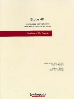 Etude 42 Ferdinand de Poppe & Franz de Weweire Partition laflutedepan