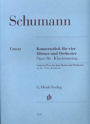 Robert Schumann - Pièce de concert pour 4 cors et piano opus 86 - Partition - di-arezzo.fr