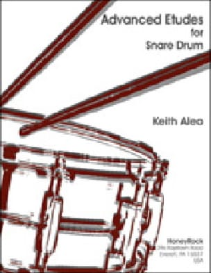 Advanced studies for snare drum Keith Aleo Partition laflutedepan