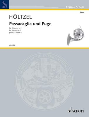 Michael Höltzel - Passacaglia und fuge - Partition - di-arezzo.fr