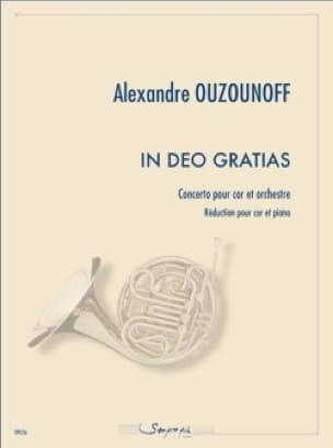 In deo gratias Alexandre Ouzounoff Partition Cor - laflutedepan