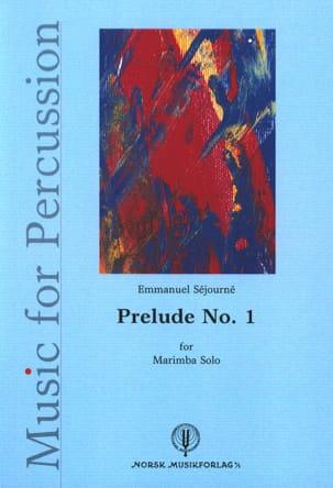 Prélude N° 1 Emmanuel Séjourné Partition Marimba - laflutedepan
