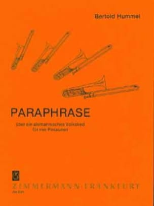 Berthold Hummel - Paraphrase - Partition - di-arezzo.fr