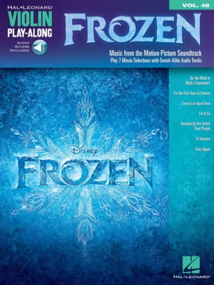 DISNEY - Violin Play-Along volume 48 - Frozen - Sheet Music - di-arezzo.co.uk