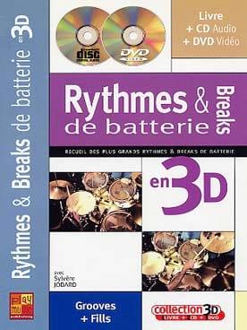 Sylvère Jobard - Rythmes & breaks de batterie en 3D - Partition - di-arezzo.fr
