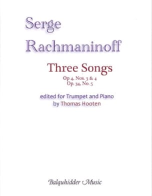 Sergei Rachmaninoff - Three Songs for trumpet and piano - Partition - di-arezzo.fr