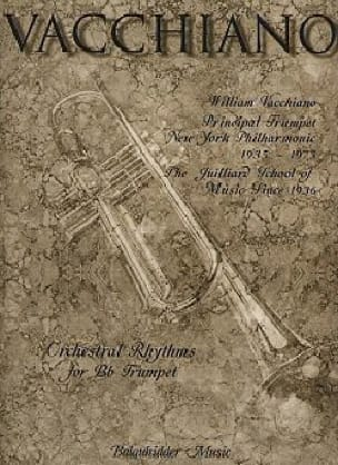 William Vacchiano - Orchestral rhythms for Bb trumpet - Sheet Music - di-arezzo.co.uk