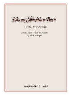 BACH - Twenty-five chorales - Arranged for four trumpets - Partition - di-arezzo.fr