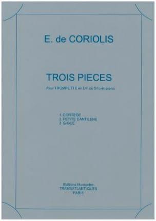 Trois pièces - Emmanuel de Coriolis - Partition - laflutedepan.com