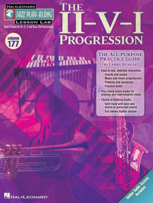 Larry Dunlap - Jazz Play-Along Volume 177 - The II-V-I Progression avec 2 CDs - Partition - di-arezzo.fr