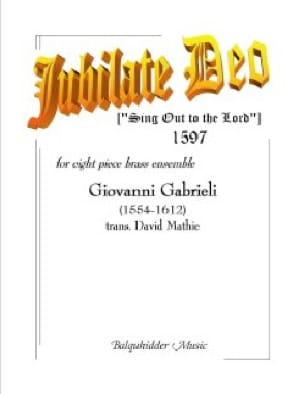 Giovanni Gabrieli - Jubilate Deo - Sheet Music - di-arezzo.com