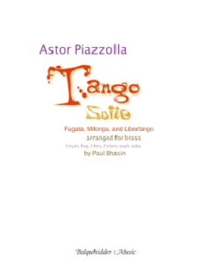 Astor Piazzolla - Tango Suite - Fugata, Milonga, and Libertango - Partition - di-arezzo.fr