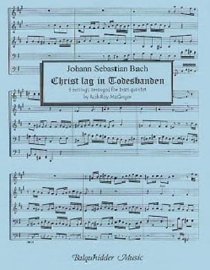 Christ Lag in Todesbanden BACH Partition laflutedepan