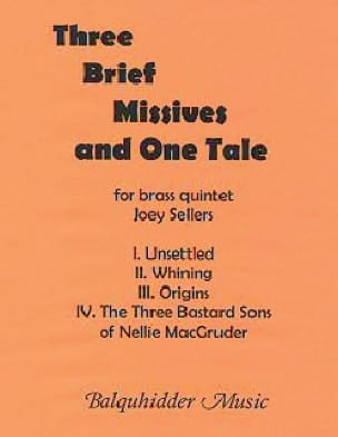 Joey Sellers - Three Brief Missives and One Tale - Sheet Music - di-arezzo.com