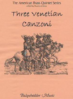 Three Venetian Canzoni - Partition - laflutedepan.com