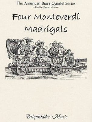 Claudio Monteverdi - Four Monteverdi Madrigals - Brass Quintet - Sheet Music - di-arezzo.com