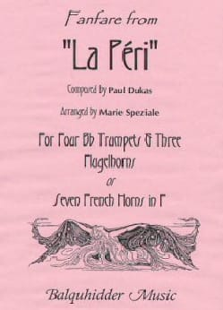 Paul Dukas - Fanfare from La Peri - Sheet Music - di-arezzo.com