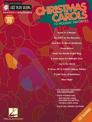 Jazz Play-Along Volume 20 - Christmas Carols - laflutedepan.com