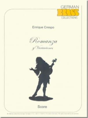 Enrique Crespo - Romanza y Varianciones - Partition - di-arezzo.fr