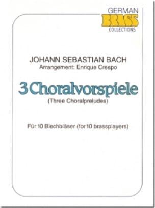 3 Choralvorspiele BACH Partition Ensemble de cuivres - laflutedepan