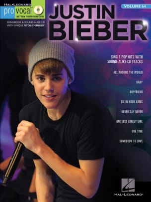 Pro Vocal Men's Edition volume 64 Bieber Justin Partition laflutedepan