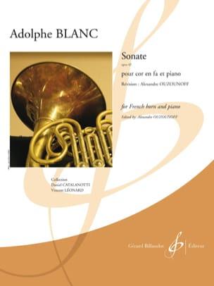 Sonate opus 43 Adolphe Blanc Partition Cor - laflutedepan