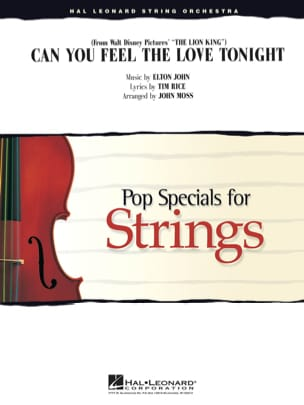 Elton John - Can You Feel the Love Tonight du film le Roi Lion - Pop Specials for Strings - Partition - di-arezzo.fr