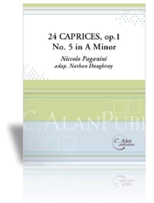 Niccolo Paganini - 24 Caprices Opus 1 N° 5 in A minor - Partition - di-arezzo.fr