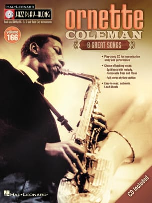 Ornette Coleman - Jazz Play-Along Volume 166 - Ornette Coleman - Partitura - di-arezzo.it