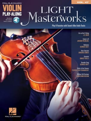 Violin Play-Along Volume 47 Light Masterworks Partition laflutedepan