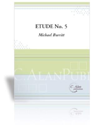 Etude No 5 Michael Burritt Partition Marimba - laflutedepan