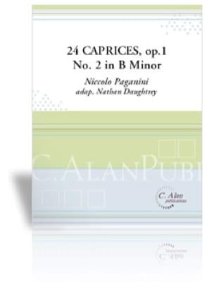 Niccolo Paganini - 24 Caprices Opus 1 No 2 in B Minor - Partition - di-arezzo.fr