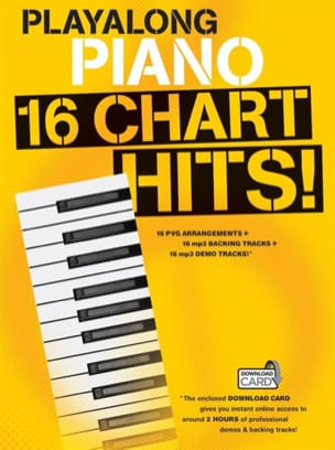 Playalong Piano - 16 Chart Hits - Partition - di-arezzo.fr