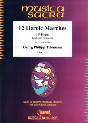 12 Heroic Marches - TELEMANN - Partition - Cor - laflutedepan.com