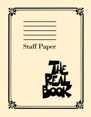 The Real Book: Staff Paper - Stationery - di-arezzo.com