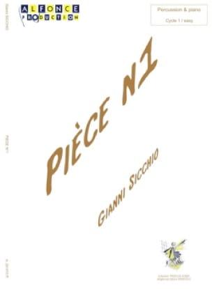 Pièce N° 1 - Gianni Sicchio - Partition - laflutedepan.com