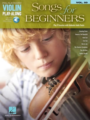 - Violin Play-Along Volume 50 Songs for Beginners - Partition - di-arezzo.fr