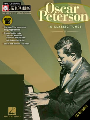 Oscar Peterson - Jazz Play-Along Volume 109 - Oscar Peterson - Partitura - di-arezzo.it