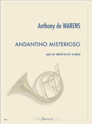 Andantino misterioso - Warens Anthony de - laflutedepan.com