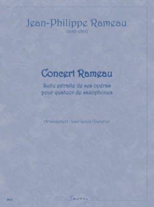 Jean-Philippe Rameau - Concert Rameau - Partition - di-arezzo.fr