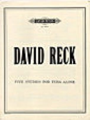 David Reck - Five Studies for Tuba Alone - Partition - di-arezzo.fr