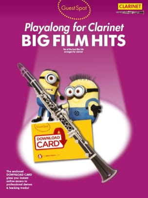 - Guest Spot - Big Movie Hits Playalong For Clarinet - Sheet Music - di-arezzo.com