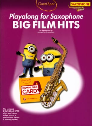 - Guest Spot - Big Movie Hits Playalong para Saxofón del Alto - Partitura - di-arezzo.es