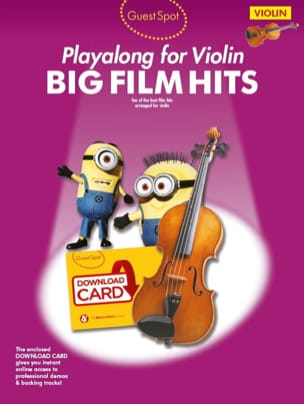 - Guest Spot - Big Movie Hits Playalong For Violin - Sheet Music - di-arezzo.co.uk