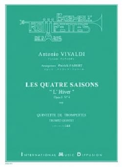 Antonio Vivaldi - Les 4 Saisons - L'Hiver Opus 8 N°4 - Partition - di-arezzo.fr