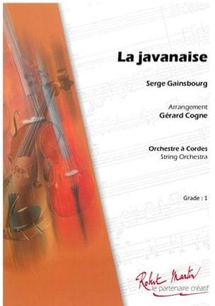 Serge Gainsbourg - La Javanaise - Partition - di-arezzo.ch