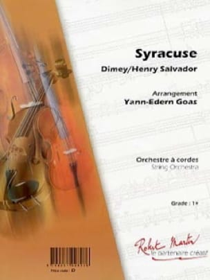 Henri Salvador - Syracuse - Sheet Music - di-arezzo.co.uk